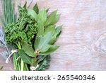 aromatic herbs  | Shutterstock . vector #265540346