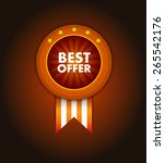best offer badge. certificate... | Shutterstock .eps vector #265542176