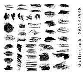 super large charcoal brushes... | Shutterstock .eps vector #265547948