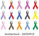awareness ribbons | Shutterstock .eps vector #26554915