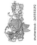art illustration of a girl... | Shutterstock .eps vector #265553192