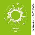 concept of traveling around the ... | Shutterstock .eps vector #265591466