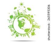 world green ecology city...   Shutterstock .eps vector #265595306