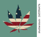 marijuana leaf with the usa...   Shutterstock .eps vector #265596476