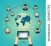 social media network concept... | Shutterstock . vector #265601792
