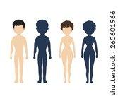 human body  in flat style women ... | Shutterstock . vector #265601966