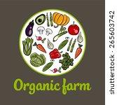organic farm vector concept | Shutterstock .eps vector #265603742