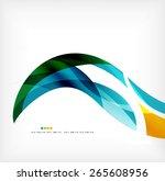 business wave corporate... | Shutterstock . vector #265608956