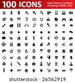 hundred vector icons for web...
