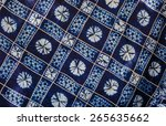 blue and white tie dyed fabric | Shutterstock . vector #265635662