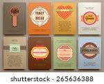 set of vintage labels  frames... | Shutterstock .eps vector #265636388