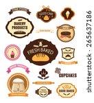 set of vintage retro bakery... | Shutterstock .eps vector #265637186