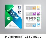vector business flyer template... | Shutterstock .eps vector #265648172