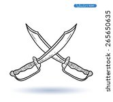 pirates sign blade  vector...   Shutterstock .eps vector #265650635