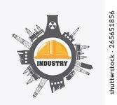 industry design over white... | Shutterstock .eps vector #265651856