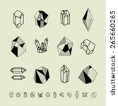 set of crystals. geometric... | Shutterstock .eps vector #265660265