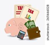 taxes design over white... | Shutterstock .eps vector #265666028