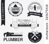 plumbing service. home repairs. ...   Shutterstock .eps vector #265675418