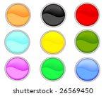 web buttons.   Shutterstock .eps vector #26569450