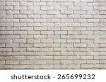 white brick wall  grungy grey... | Shutterstock .eps vector #265699232