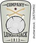 vintage lumberjack shield.... | Shutterstock .eps vector #265704902