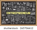 hand drawn entrepreneur on... | Shutterstock .eps vector #265706612