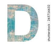 grunge letter | Shutterstock . vector #265716632