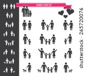 family icon set | Shutterstock .eps vector #265720076