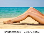 woman's beautiful legs on the... | Shutterstock . vector #265724552
