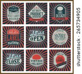 set of nine vintage stickers ... | Shutterstock .eps vector #265734905