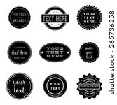 vector set of retro stamps and... | Shutterstock .eps vector #265736258