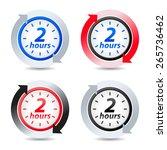 vector 2 hours | Shutterstock .eps vector #265736462
