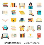 books set in flat design style... | Shutterstock .eps vector #265748078