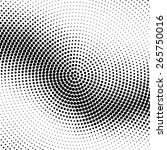 abstract dotted halftone vector ... | Shutterstock .eps vector #265750016