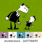 angry boss. business... | Shutterstock .eps vector #265758695