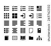 content icon set | Shutterstock .eps vector #265762532