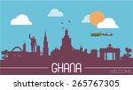 ghana city skyline silhouette...