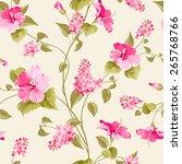 seamless pattern of siringa and ... | Shutterstock .eps vector #265768766
