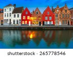 Scenic City View Of Bruges...