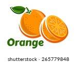 Orange Fruits Poster In Cartoon ...