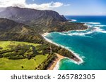 helicopter tour of kauai  hawaii | Shutterstock . vector #265782305