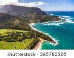 helicopter tour of kauai  hawaii | Shutterstock . vector #265782305