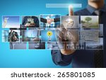 businessmen and reaching images ... | Shutterstock . vector #265801085