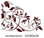 Stock vector vector illustration of floral ornament 26580628