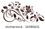 Stock vector vector illustration of floral ornament 26580631