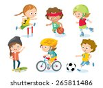 sport for kids including... | Shutterstock .eps vector #265811486