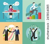 happy young business man... | Shutterstock .eps vector #265816085
