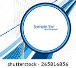 abstract vector background with ... | Shutterstock .eps vector #265816856