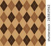 argyle basic seamless texture... | Shutterstock .eps vector #265819562