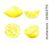 vector watercolor illustration. ...   Shutterstock .eps vector #265823792